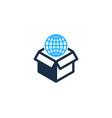 globe box logo icon design vector image