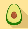 guacamole icon flat style vector image vector image