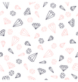 Hand drawn diamonds seamless pattern vector image