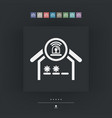 house alarm icon vector image