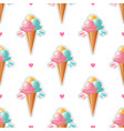 ice cream pattern trendy cute white background vector image vector image