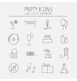icon set parties vector image