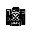 interface design black icon sign on vector image vector image