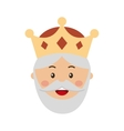 King wizard icon epiphany isolated design vector image