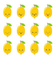 lemon cute fruit character set isolated on vector image vector image