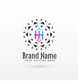 letter h logo concept design template vector image