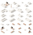 living room low poly isometric icon set vector image vector image