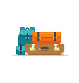 luggage isolated flat cartoon vector image vector image