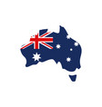 map with flag australia icon on white background vector image
