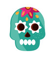 may 5 skull catrina flower decoration vector image