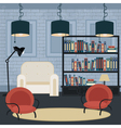 Modern Interior Living Room in Grunge Style Room vector image vector image