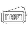 museum ticket icon outline style vector image