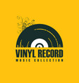 music icon with vinyl record in retro style vector image vector image