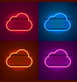 neon frame sign in the shape of a cloud vector image vector image