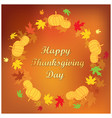 orange background with frame - thanksgiving vector image