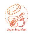 organic food vegan breakfast concept icon healthy vector image vector image