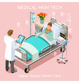 Patient Visit 03 People Isometric vector image vector image