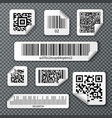 qr bar codes stickers set vector image vector image