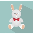 rabbit bunny toy isolated icon vector image vector image
