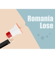 Romania lose Flat design business vector image vector image