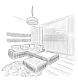 Room interior sketch vector image