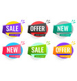 sale and offers labels set for business promotion vector image