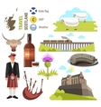 Scotland travel collection vector image vector image