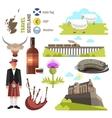 Scotland travel collection vector image