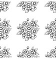 seamless daisy flowers black background vector image