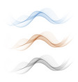 set abstract wave pattern transparent wave vector image vector image