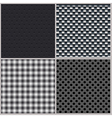 set four backgrounds abstract dotted and metal vector image