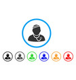 sick physician rounded icon vector image vector image