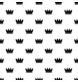 silhouette crown pattern seamless vector image vector image