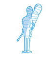 silhouette man with beard and balloons in the hand vector image