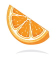 slice of orange resize vector image vector image