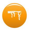 snowdrift icon orange vector image