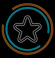 star symbol rating or award shape vector image