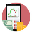 stock financial market icon vector image