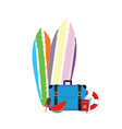 summer item icon vector image