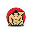 sumo japanese mascot design vector image vector image