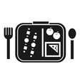 time to lunch icon simple style vector image