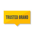 trusted brand price tag vector image vector image