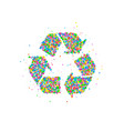 recycled cycle arrows vector image