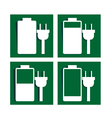 Battery charging sign icon vector image