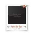 Retro wedding greeting cards Template for vector image