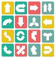 Set of flat arrows vector image