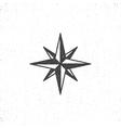 Vintage wind rose symbol or icon in rough vector image