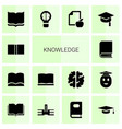 14 knowledge icons vector image vector image