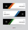banner design for business presentation vector image