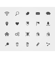 Basic Web icons vector image vector image